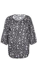 Zhenzi - Skjorta i fast tyg med 3/4 ärmar