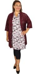 Cassiopeia - Hopla tunika klänning med korta ärmar och v-hals