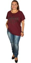 Zhenzi - Smart t-shirt med kort vingeærme og print