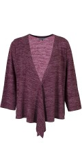 Zhenzi - Wrap around knit bolero with 3/4 sleeves