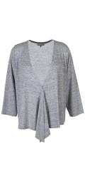 Zhenzi - Wrap around knit bolero with 3/4 sleeves