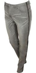 Zhenzi - Stomp super strechy jeans med hällor och justerbar gummiband i midjan och 5 fickor