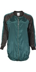Zhenzi - Smart 3/4 long windbreaker with rough zipper and sleeve in contrast colour