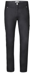 Zhenzi - Coated black stretch jeans (model stomp legging fit) with adjustable rubber band in the waist