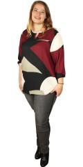 Cassiopeia - Cemi blouse med 3/4 ærmer som afsluttes med elastik samt smock ved halsen