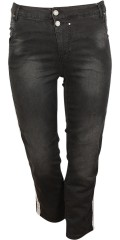 Cassiopeia - Fally jeans with stretch, classic model with pockets and belt straps, 7/8 length