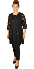 Gozzip - Vacker tunika/klänning i a-formad med 3/4 ärmar