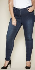 Zhenzi - Jeggings samba super slim fit i strechy denim med regulerbar elastik i taljen