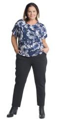 Cassiopeia - Dottie 7/8 bukser med strikk i hele taljen og beltestropper