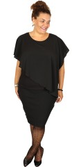 Cassiopeia - Kate blouse in nice chiffon with wing sleeves and hard sewn viscose top under
