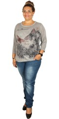 Cassiopeia - Mottled t-shirt with 3/4 sleeves
