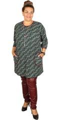 Gozzip - Tunika/Kleid in strechy Material, retro Look mit Taschen