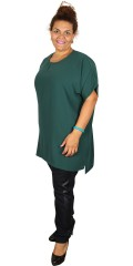 Cassiopeia - Bella oversize tunica with round neck and short sleeves