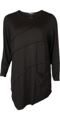 Q´neel - Nice stretchable tunica blouse with long sleeves
