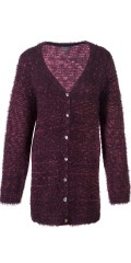 Zhenzi - Cardigan in stylish mottled knit