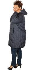 Cassiopeia - Kamma hood long fleece jacket with double zipper