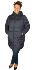 Cassiopeia - Kamma hood long fleece jacket with double zipper