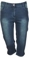 Zhenzi - Stomp legging passform, stumpbyxor med streck och justerbar gummiband i midjan