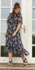 Zhenzi - Chiffon klänning med sys underklänning