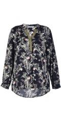 Studio - Tunika skjorta i fast tyg med 3/4 ärmar