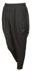 Gozzip - Strechy bukser med bred elastik i hele taljen