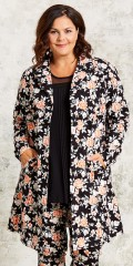 Gozzip - Blazer jacket/cardigan in super stretch and with 2 sloping pockets