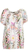 Handberg - T-shirt blouse with short sleeves in super nice print