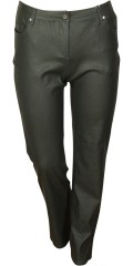 Zhenzi - Coatet super strech jeans (model stomp legging fit) med regulerbar elastik i taljen