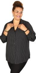 DNY - Savina klassisk gjennomknappet skjorte i hard stoff