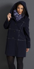 Handberg - Luxury lined wool jacket with cap