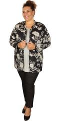 Cassiopeia - Margot quiltet jakke med fin perlekant i halsudskæringen