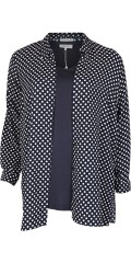 Zhenzi - Long shirt with dots and in a super stylish quality