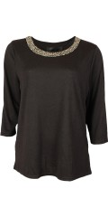 Cassiopeia - Nice blouse with lots of shiny pearls in the neckline