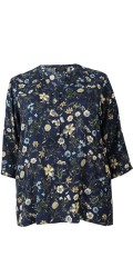Cassiopeia - Fine shirt blouse with 3/4 sleeves and