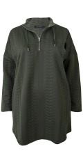 Cassiopeia - Långärmad tröja med blixtlås i halsen