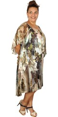Kirsten Krog Design - Super smart silk dress with cape, forming sleeves