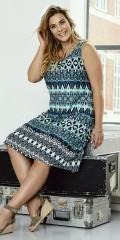 CISO - Jersey Kleid mit rund Hals
