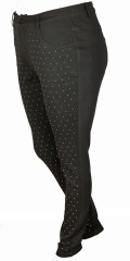 Zoey - Lange Hosen schlank Modell mit super Stretch und bling bling auf das Vorderstück