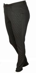 Zoey - Långa byxor slim modell med super streck och bling bling på forsidan