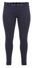 Zizzi - Night trousers with dots and lace edge in the waist