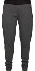 Adia - Bukser med semsket skinn og strikk i hele taljen, i smart mønster og med 2 glidelås lommer