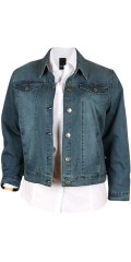 Adia Fashion - Classic denim denim jacket with stretch and super fit