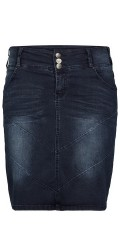 Adia - Stylish strechy jeans skirt with adjustable rubber band in the waist