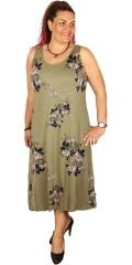 Adia Fashion - Lang 2 geteilt Träger Kleid mit lose smart Top
