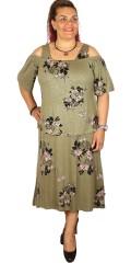 Adia - Lang 2 geteilt Träger Kleid mit lose smart Top
