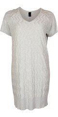 Adia Fashion - Knit tunica/dress with short sleeves and v cutting