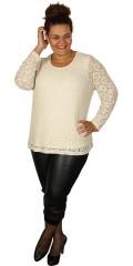 CISO - Flott mat/blank blondeskjorte med lange ermer