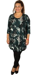 Zhenzi - Strechy tunica with 3/4 sleeves in impressive nice print