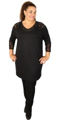 Cassiopeia - Dress/tunica with 3/4 sleeves with lace edge