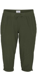 Zizzi - Capri capri pants with rubber band and line in the waist, also line in the legs